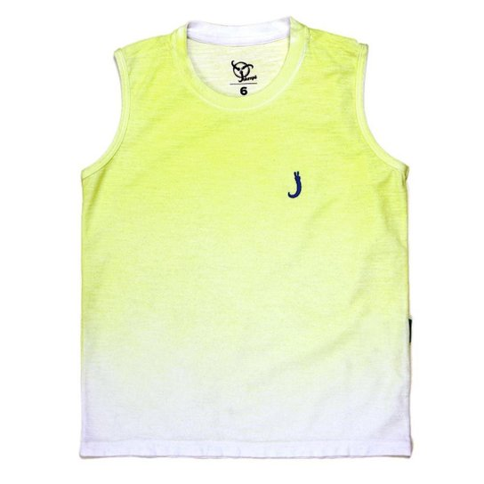 77af66e3bb Regata Jokenpô Infantil Degradê - Amarelo - Compre Agora