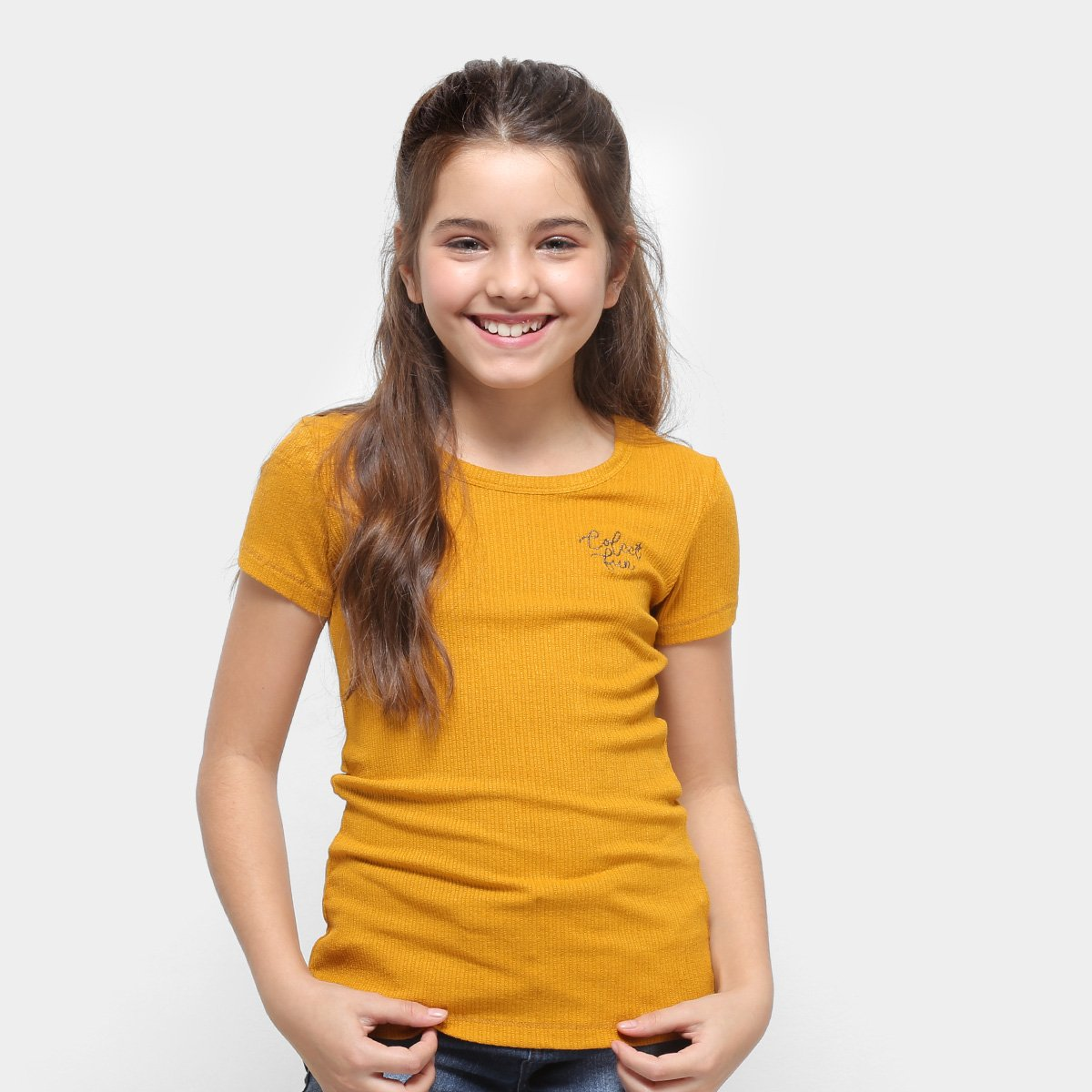 57ff56ddb Camiseta Infantil Colcci Fun Básica Feminina