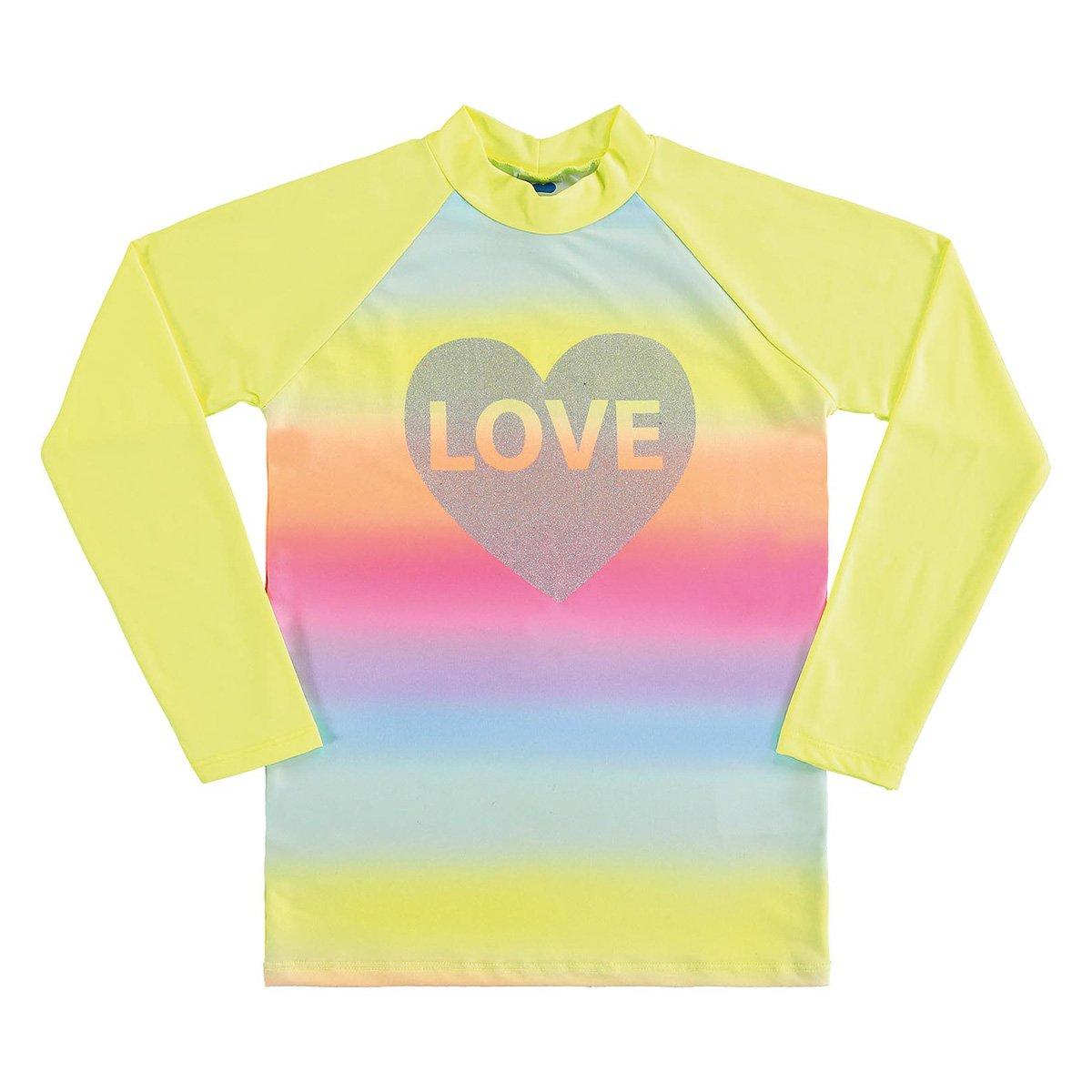 Camiseta Juvenil Marlan Proteção UV Manga Longa Feminina