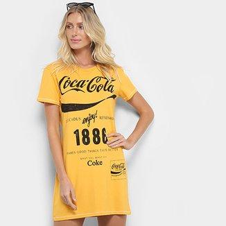 fb3d993cc0 Vestido Coca-Cola Manga Curta Estampado