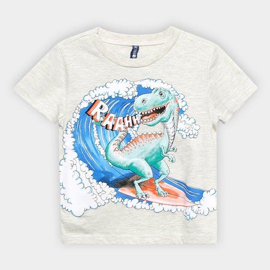 7d374dca2 Camiseta Infantil Cativa Surf Dinossauro Masculina - Amarelo | Zattini