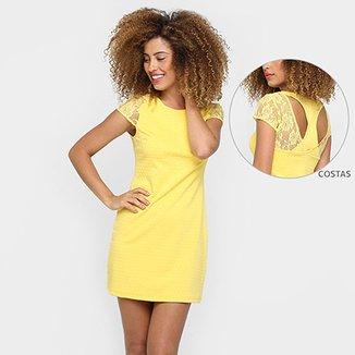 03ba85981 vestidos Facinelli recorte renda costas