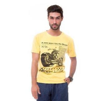 865d061e124 Camiseta D affari Estonada Estampada Masculino
