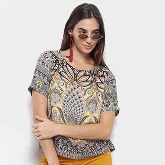 dea2e1bc579a Blusa T-Shirt Farm Estampada Abacaxi Feminina