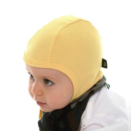 edb6f5e80ca19 Touca Infantil Gumii Aviador Masculino - Amarelo - Compre Agora ...