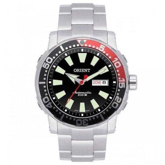 b88c955477a Relógio Orient Automático Troca Pulseiras Poseidon Scuba Diver 469SS039  PVSX - Prata+Preto
