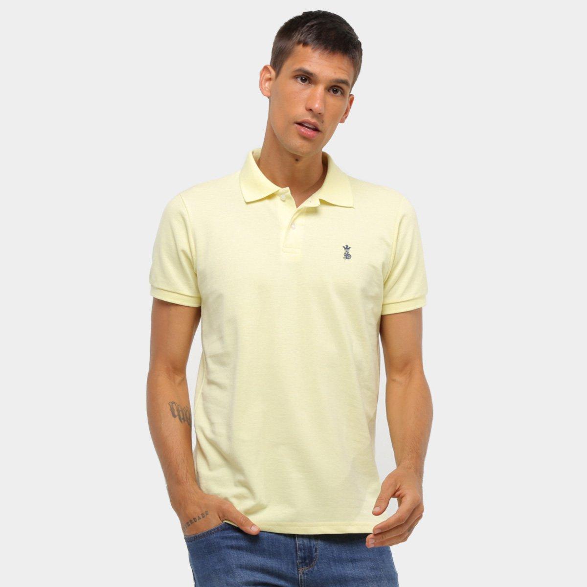 Camisa Polo Squadrow Básica Bordado Piquet Masculina