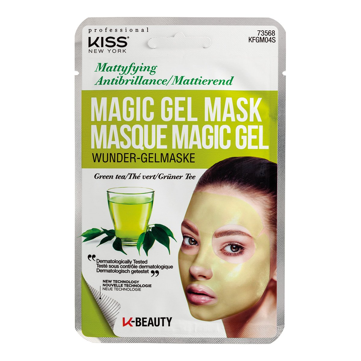 Máscara Facial Kiss New York - Magic Gel Mask Chá Verde - 1 Unid.