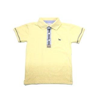 Camisa Polo Manga Curta Juvenil Amarelo 642a361c20d9f