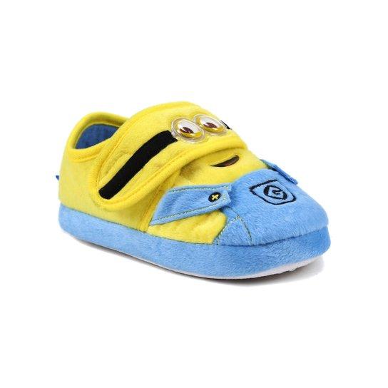 e19417e81ddb26 Pantufa Infantil Para Menina Meu Malvado Favorito Minions - Azul/amarelo -  Amarelo