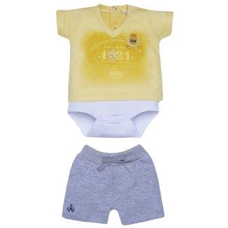 Conjunto Bebê National Amarelo 2Pçs 190928 - Sonho Mágico 9ccbfb35c2425