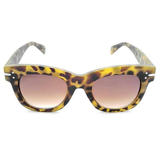 Óculos de Sol Gio Antonelli Tartaruga Fosco Lente Marrom Degradê Feminino -  Amarelo e4be4ea79b