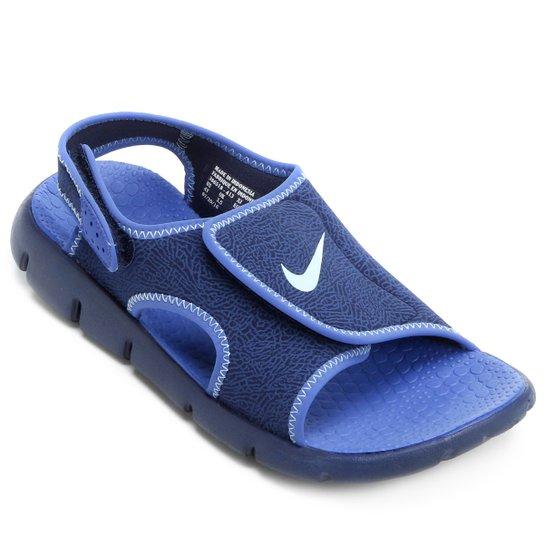 c186e93b175 Sandália Nike Sunray Adjust 4 Juvenil - Azul Claro e Branco - Compre ...