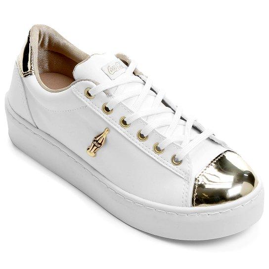 8f963abb915 Tênis Coca-Cola Belle Winter - Branco+dourado