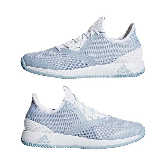 a7b9795cb Tênis Adidas Adizero Defiant Bounce Feminino - Azul Claro e Branco ...