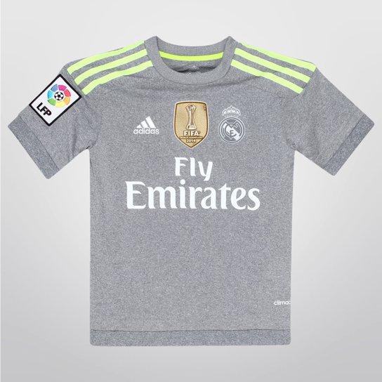 ef5ee51bf3 Camisa Adidas Real Madrid Away 15 16 s nº Juvenil - Patch Mundial ...