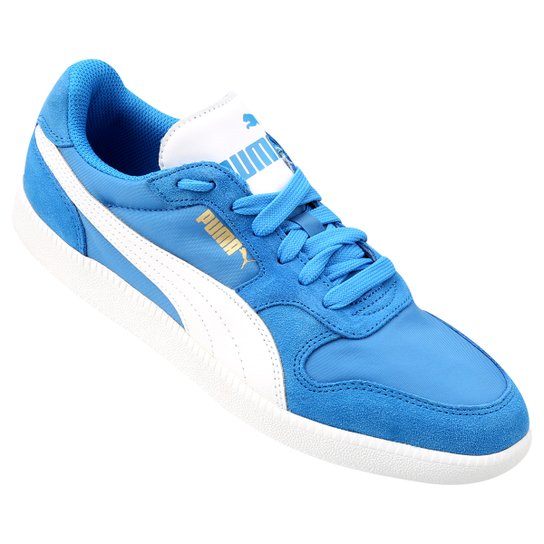 48941639083ac Tênis Puma Icra Trainer Nl - Azul Claro+Branco