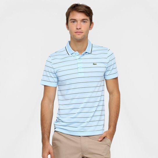37326982592b4 Camiseta Polo Lacoste-DH5751-21 - Azul Claro e Branco - Compre Agora ...