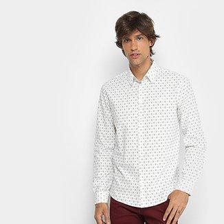 c89df95a420f0 Camisa Manga Longa Colcci Slim Micro Estampa Masculina