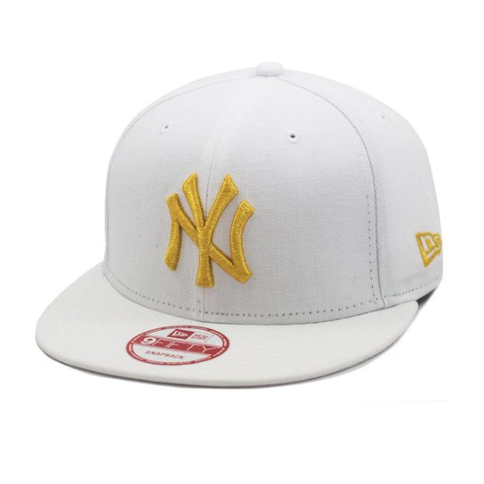 e1326910b Boné New Era Snapback New York Yankees Mlb - Branco e dourado ...