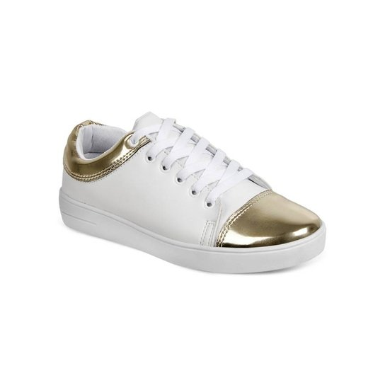 21780846e5f Tênis Katarina Magalhaes - Branco e dourado - Compre Agora