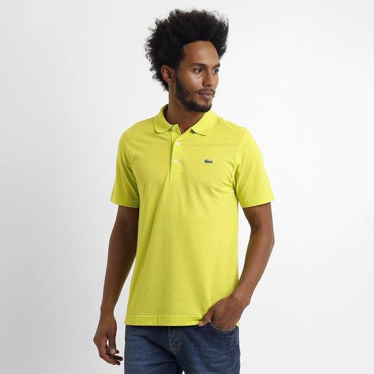 3602983d719 Camisa Polo Lacoste Super Light Masculina - Amarelo - Compre Agora ...