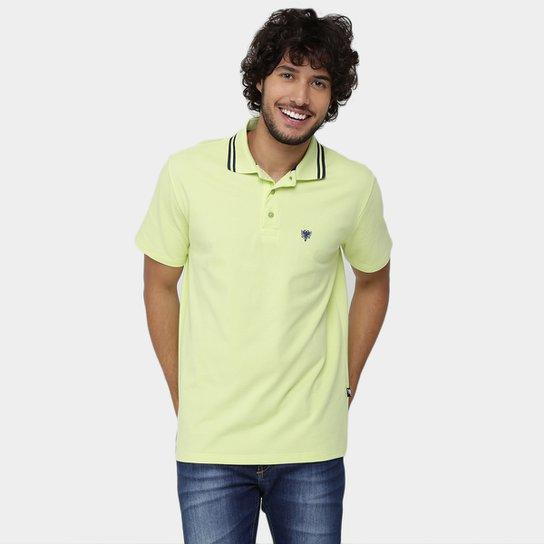 d3d44ad75d965 Camisa Polo Cavalera Básica Bordado Masculina - Verde Limão   Zattini