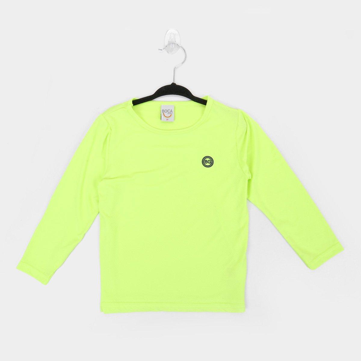 Camiseta Infantil Boca Grande Manga Longa Com Proteção UV 50 Masculina