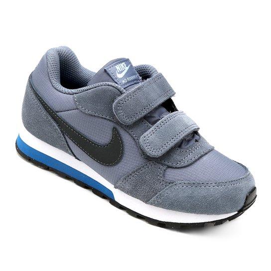 2198b4cfa9a Tênis Infantil Nike Md Runner 2 - Azul Claro e Preto - Compre Agora ...
