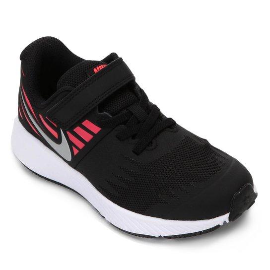 Tênis Infantil Nike Star Runner Feminino - Preto e Rosa - Compre ... a014b03e13476