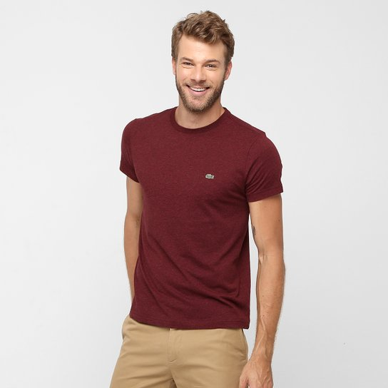 Camiseta Lacoste Básica Gola Careca - Compre Agora   Zattini 5cab40fc02