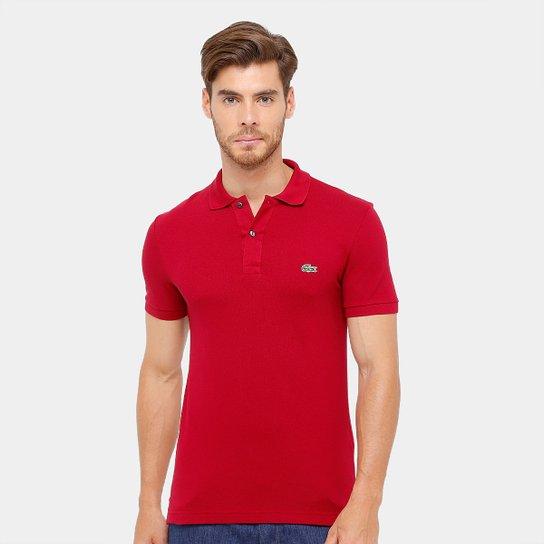 Camisa Polo Lacoste Piquet Slim Fit Masculina - Compre Agora  9126c51364fbf