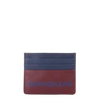 d83dbf68c097d Carteira Couro Calvin Klein Porta Cartão Masculina