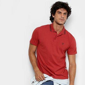 Camisa Polo Cavalera Piquet Frisos Masculina 4ec88b1b587ea