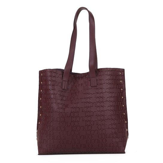 a456e79c3 Bolsa Colcci Shopper Croco Tachas Feminina - Vinho | Zattini