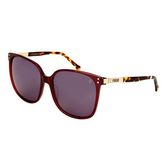 1c17c8ac72664 Óculos Forum Degradê Masculino - Vinho - Compre Agora