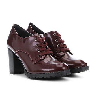 e2491f9b0d Ankle Boot Mooncity Tratorada Verniz Feminina