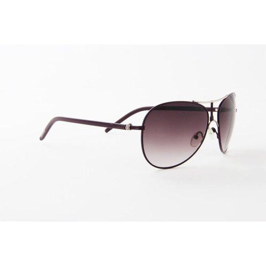 7f89c438b Óculos de Sol Atitude Metal Vinho Lente Vinho Degradê | Zattini