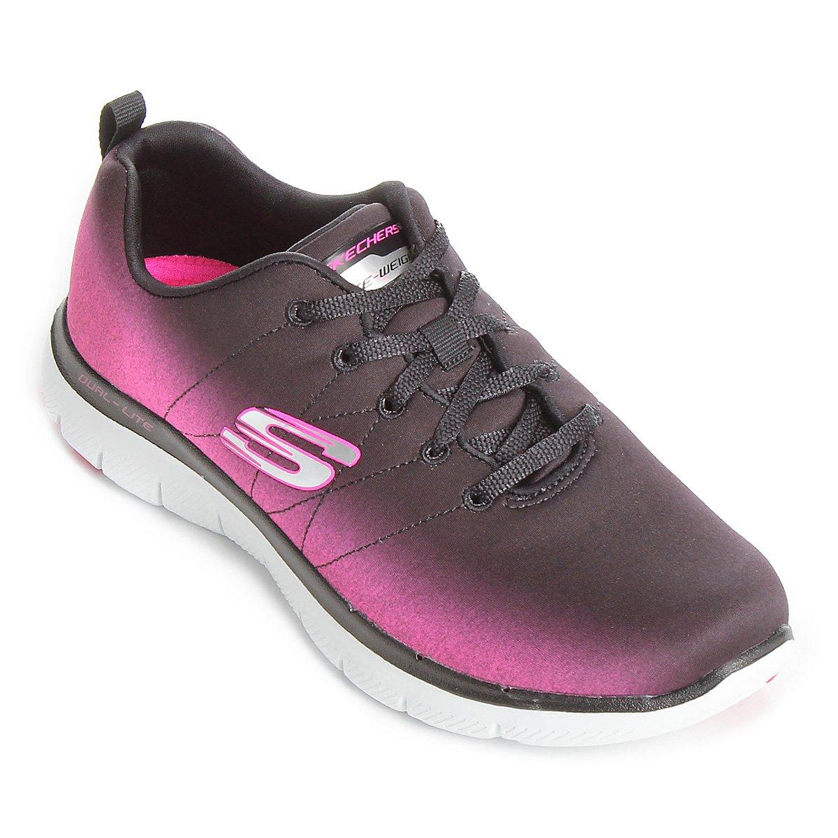 aa7c024377 Tênis Skechers Flex Appeal 2.0 Bright Side Feminino