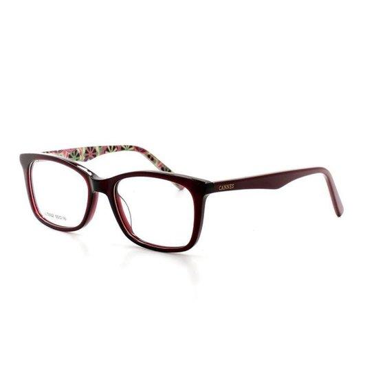 09965e6cbe53d Armação De Óculos De Grau Cannes 5002 T 50 C 6 Feminino - Compre ...