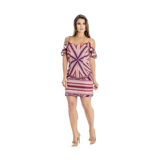 3cd993c24ce66 Vestido Estampa Lenço Ana Hickmann - Compre Agora   Zattini
