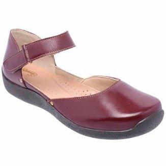 75dd96eb8 Sapatilha Conforto D&R Shoes em Couro Feminina