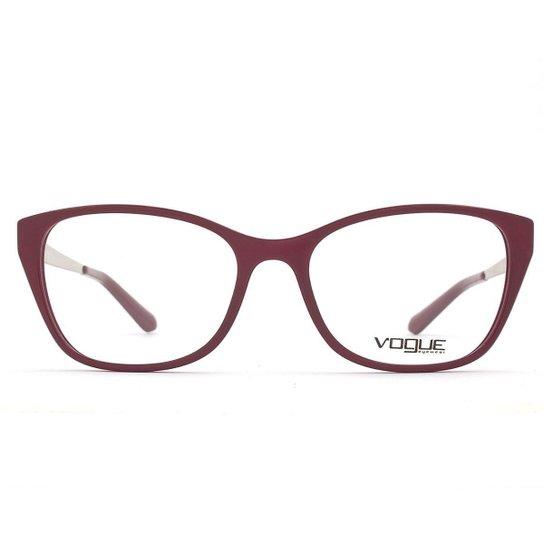 05f1a84fa Óculos de Grau Vogue Tropi chic VO Feminino - Vinho   Zattini
