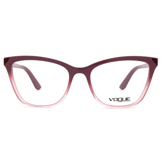 473660620 Óculos de Grau Vogue Metallic Beat VO Feminino - Vinho   Zattini