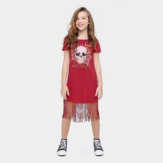 5997e0e1f Vestido Colcci Fun Estampa Caveira Franjas Infantil