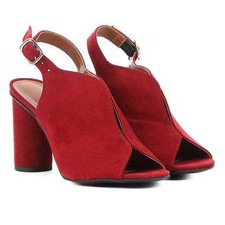 b21639c0f8 Ankle Boot Zatz Recorte Salto Alto Feminino