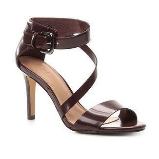 aefbc0ad74 Sandália Shoestock Salto Fino Tiras Feminina