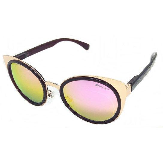 d71a151f1 Óculos De Sol Original Garnet Fashionista Espelhado - Marrom e Rosa ...