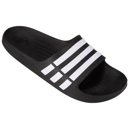9004cdf3ed Chinelo Slide Adidas Duramo - Preto e Branco - Compre Agora