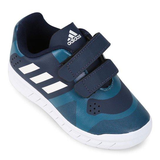 0373739c7 Tênis Infantil Adidas Quicksport Cf 2 I - Marinho+Branco
